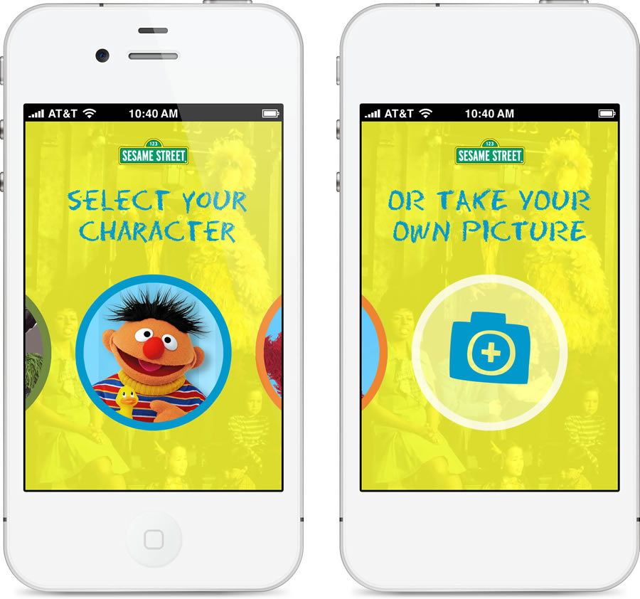 Sesame Street Select Character pages